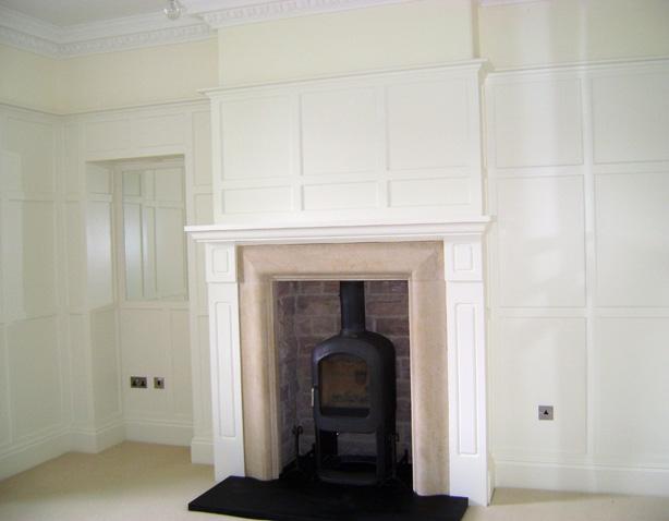 Kym Lodge fireplace
